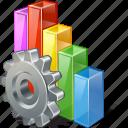 analytics, bar, chart, graph, settings, statistics, stats