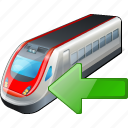 import, train, transport, travel icon