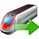 export, train, transport, travel icon