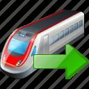 export, train, transport, travel icon