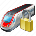 locked, train, transport, travel icon