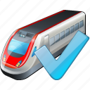 ok, train, transport, travel icon