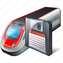 save, train, transport, travel icon