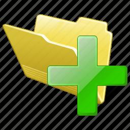 add, category, folder, open icon