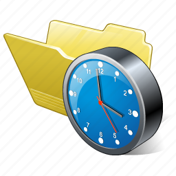 category, clock, folder, open icon
