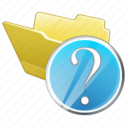 category, folder, open, question icon
