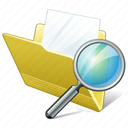 document, file, folder, search icon