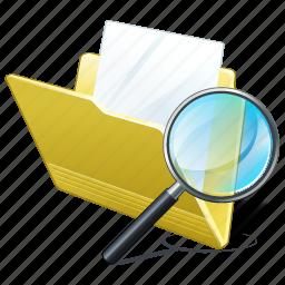 document, file, folder, search2 icon