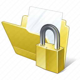 document, file, folder, locked icon
