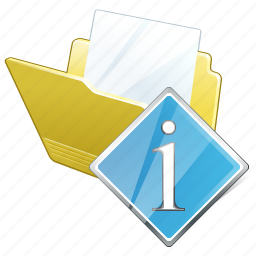 document, file, folder, info icon