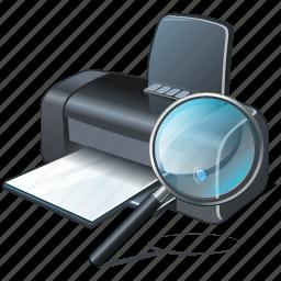 print, printer, search2 icon