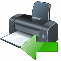 import, printer icon