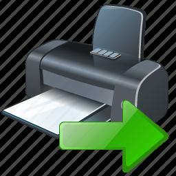 export, print, printer icon