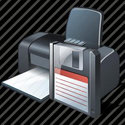 guardar, print, printer, save icon