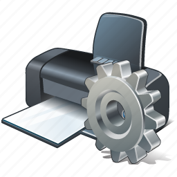 print, printer, settings icon