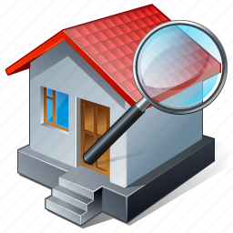 building, home, house, search2 icon