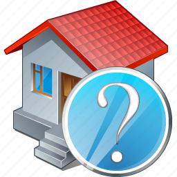 building, home, house, question icon