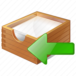 box, documents, import, office, paper icon