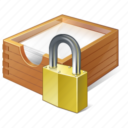 box, documents, locked, office, paper icon