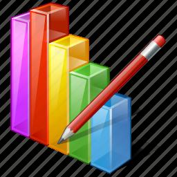 analytics, bar, chart, edit, graph, statistics, stats icon