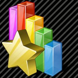 analytics, bar, chart, favorite, graph, statistics, stats icon