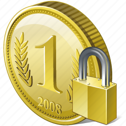 coin, locked, money, payment icon