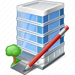 building, business, edit, house, office icon