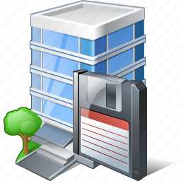 building, business, guardar, house, office, save icon