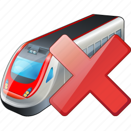 delete, train, transport, travel icon