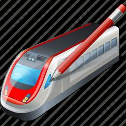 edit, train, transport, travel icon