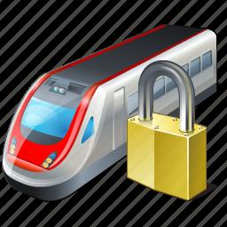 locked, train, transport, travel icon