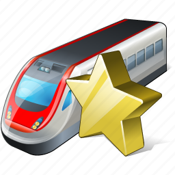 favorite, train, transport, travel icon