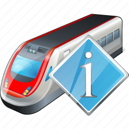 info, train, transport, travel icon