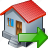 building, export, home, house icon