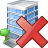 building, business, delete, house, office icon