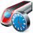 clock, train, transport, travel icon