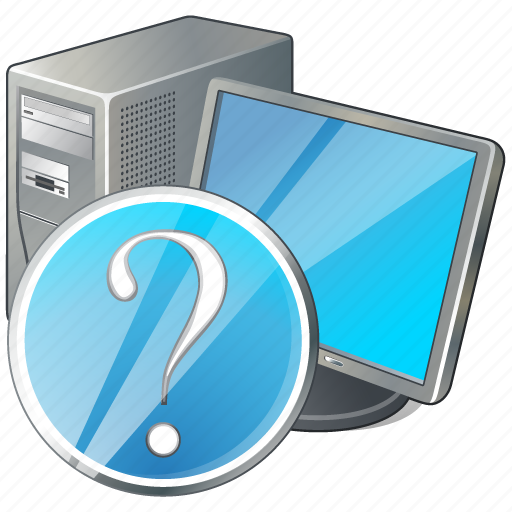 computer, desktop, monitor, pc, question icon