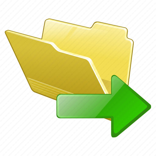 category, export, folder, open icon