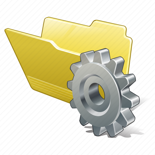 category, folder, open, settings icon