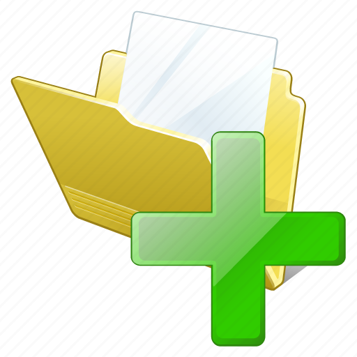 add, document, file, folder icon