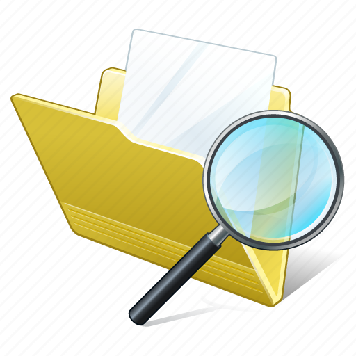 document, file, folder, search2 icon