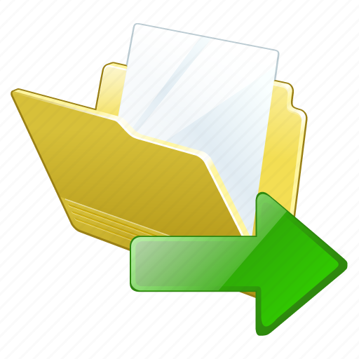 document, export, file, folder icon