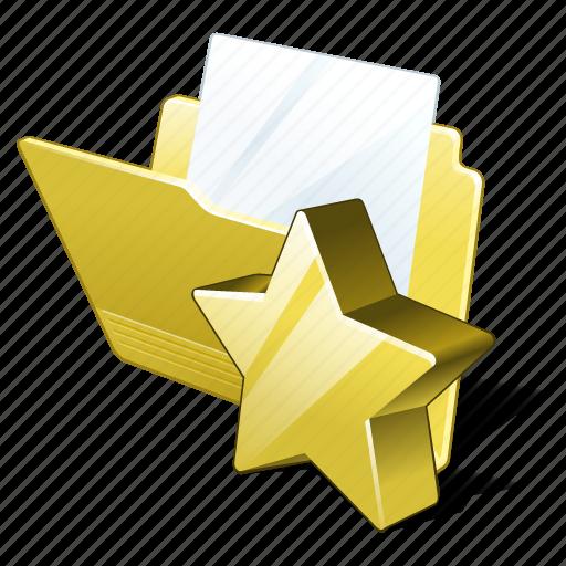 document, favorite, file, folder icon