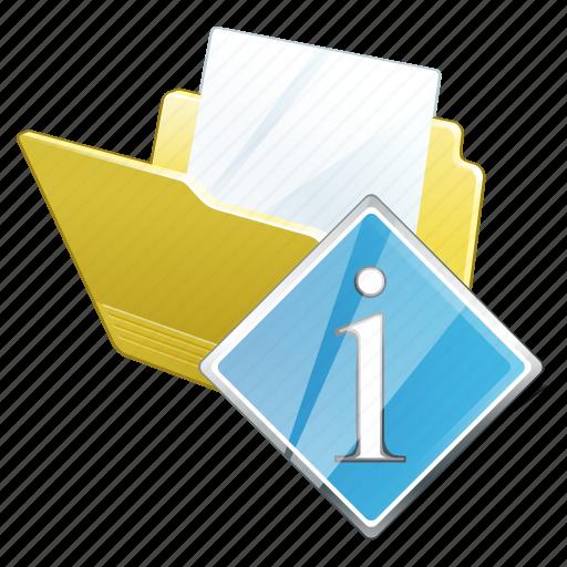 document, file, folder, info icon