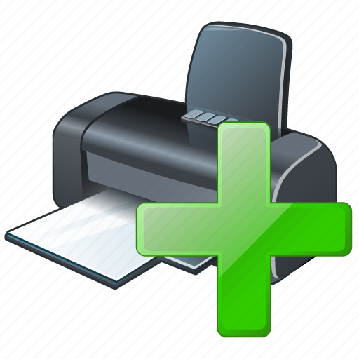 add, print, printer icon