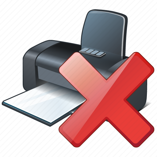 delete, print, printer icon