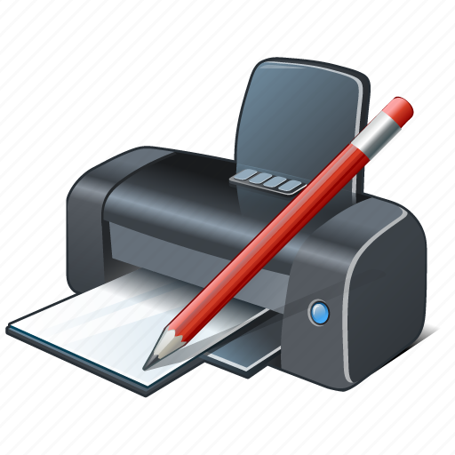 edit, print, printer icon