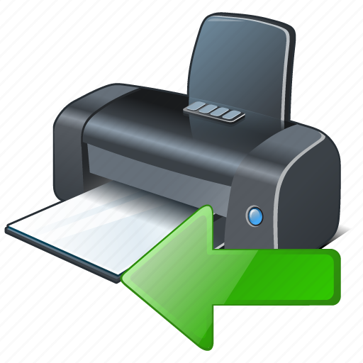 import, printer icon