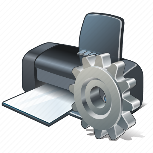 print, printer, settings icon