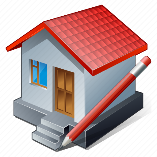 building, edit, home, house icon